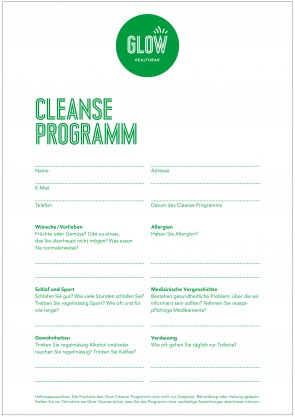 Cleanse info sheet